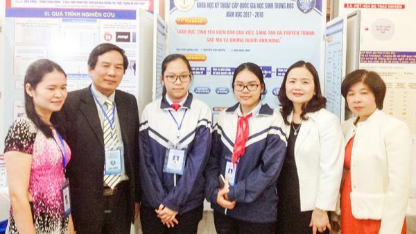 Đoàn học sinh Quảng Trị đoạt 1 giải Nhì và 4 giải sáng tạo