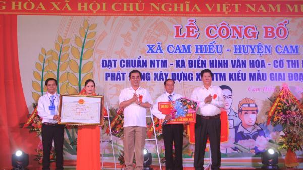 Cam Hiếu đón nhận danh hiệu xã đạt chuẩn nông thôn mới
