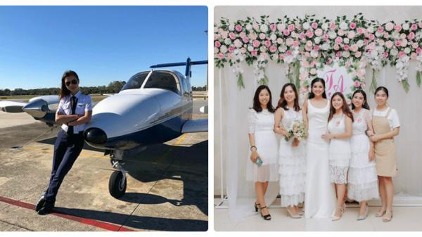 Nữ diễn viên người Quảng Trị kết hôn với chồng Tây sau 4 năm rời xa showbiz làm phi công