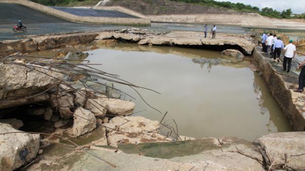 Nhiều hồ, đập tại Quảng Trị đứng trước nguy cơ mất an toàn