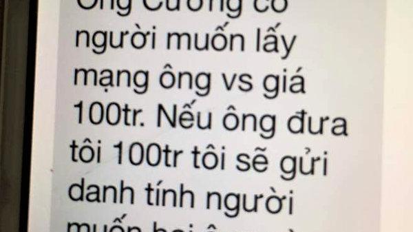 Kẻ lạ mặt tống tiền Chánh văn phòng đại biểu Quốc hội tỉnh Quảng Trị