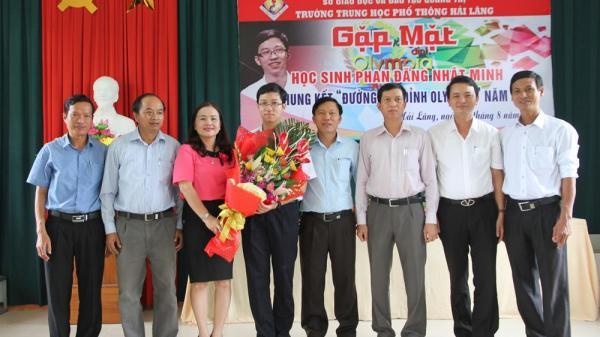 Hải Lăng tổ chức gặp mặt học sinh Phan Đăng Nhật Minh