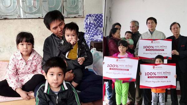 iSchool Quảng Trị hỗ trợ 100% học phí cho 3 đứa trẻ mất mẹ trong gia đình bị nước lũ cuốn