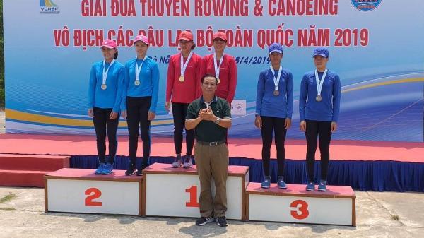 Đội tuyển Rowing Quảng Trị đoạt 1 HCV, 2 HCB và 3 HCĐ tại Giải vô địch các CLB Rowing và Canoeing toàn quốc năm 2019