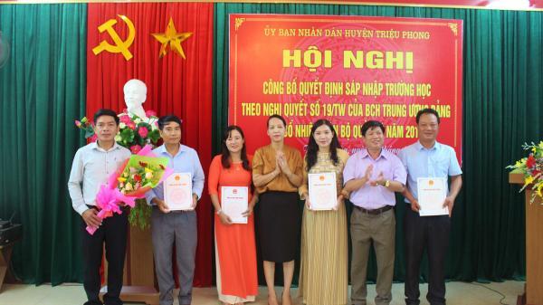 Sáp nhập 14 trường học tại huyện Triệu Phong