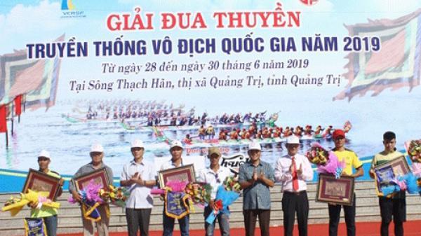 Quảng Bình giành được 15 Huy chương tại giải đua thuyền truyền thống vô địch Quốc gia năm 2019