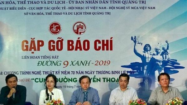 Lào, Campuchia tham gia chương trình Liên hoan Tiếng hát Đường 9 xanh tại Quảng Trị