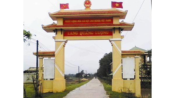 Làng Quảng Lượng quyết tâm xây dựng làng văn hóa xuất sắc giai đoạn 2012-2016