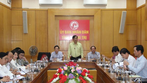UBND tỉnh Quảng Trị làm việc với nhà đầu tư về các dự án khu đô thị và khu biệt thự cao cấp trên địa bàn
