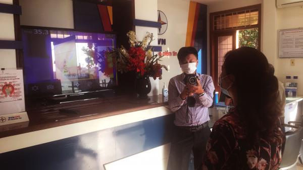 Quảng Trị: Sử dụng camera nhiệt đo thân nhiệt ở các điểm giao dịch khách hàng
