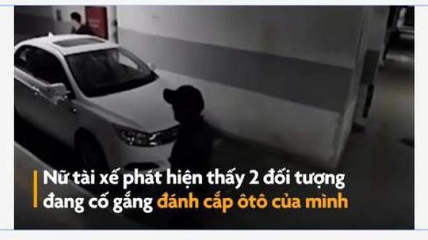 Người phụ nữ nhanh trí xử lý khi 2 thanh niên chuẩn bị tr.ộ.m xe mình
