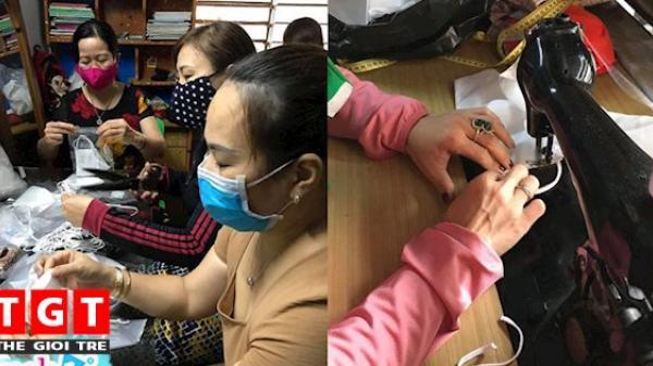 Nhóm giáo viên tại Quảng Trị may tặng khẩu trang và nhu yếu phẩm cho khu cách ly