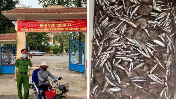 Cảm động tấm lòng của người phụ nữ khuyết tật ở Quảng Trị ủng hộ nhiều kg cá cho khu cách ly tập trung