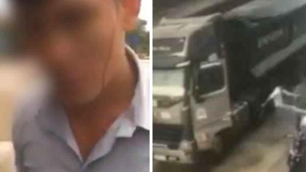 Quảng Trị: Xô xát giữa tài xế xe tải sang đường ẩu suýt gây tai nạn với người đàn ông đi xe máy không đội mũ bảo hiểm