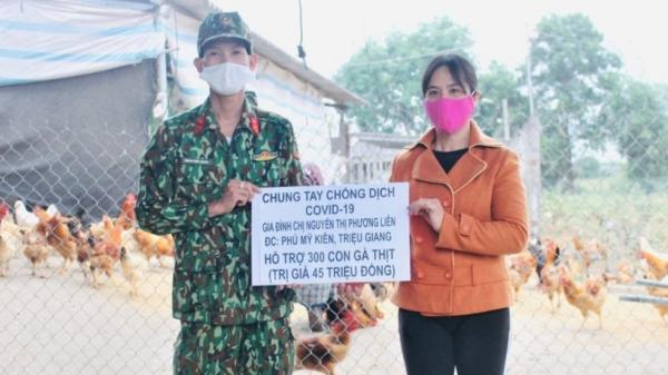 Triệu Phong: Một hộ gia đình ủng hộ quỹ phòng, chống dịch 300 con gà