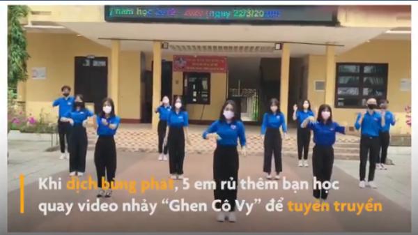 """Thích thú với màn nhảy """"Ghen Cô Vy"""" của học sinh Quảng Trị"""