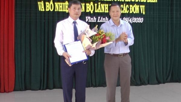 Vĩnh Linh: Công bố quyết định thành lập Trung tâm Phát triển CCN, KC&DVDLB và bổ nhiệm cán bộ lãnh đạo các đơn vị