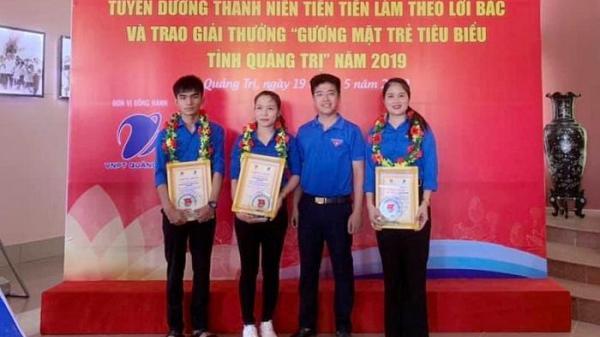 """Vĩnh Linh: Có 3 thanh niên được trao giải thưởng """"Gương mặt trẻ tiêu biểu tỉnh Quảng Trị 2019"""""""