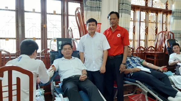 Triệu Phong: Gần 500 người tham gia hiến máu tình nguyện