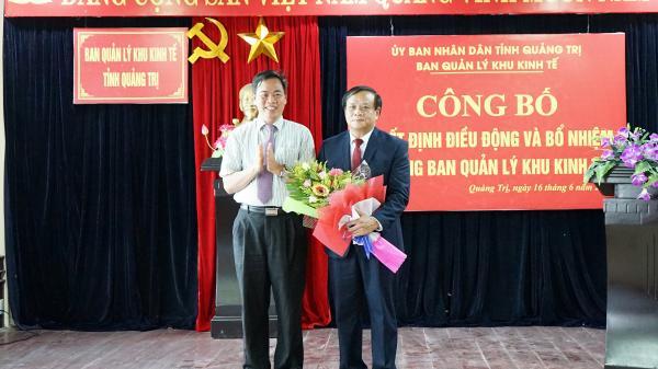 Công bố quyết định điều động và bổ nhiệm Trưởng Ban quản lý Khu kinh tế tỉnh Quảng Trị