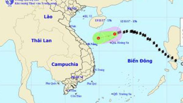 Bão suy yếu thành áp thấp nhiệt đới, di chuyển theo hướng Tây Tây Nam