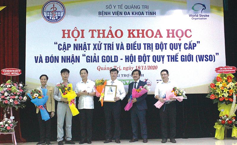 Bệnh viện Đa khoa tỉnh Quảng Trị: Giải Vàng danh giá về điều trị đột quỵ
