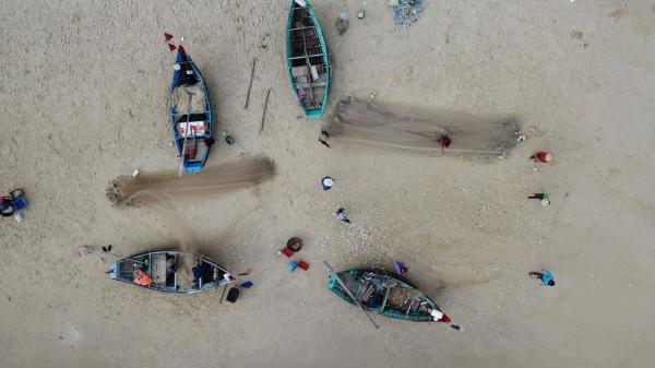 Ngư dân biển bãi ngang được mùa cá đầu năm mới Tân Sửu
