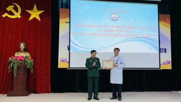 Bộ Tư lệnh Quân khu IV tặng bằng khen cho Bệnh viện Đa khoa tỉnh Quảng Trị