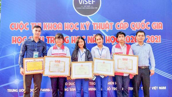 Hai dự án của học sinh Quảng Trị đạt giải cuộc thi Khoa học kỹ thuật cấp quốc gia