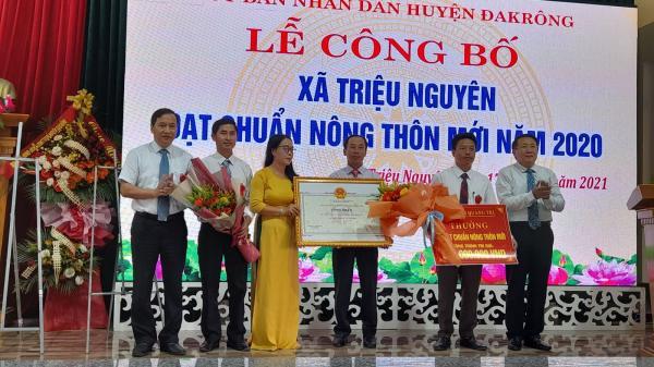 Xã đầu tiên của huyện Đakông đạt chuẩn nông thôn mới