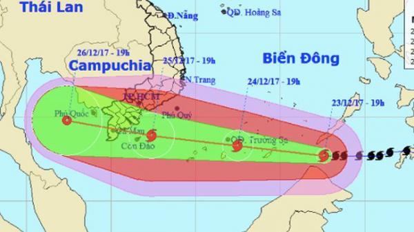 Bão số 16 đang tiến thẳng vào Tây Nam Bộ khá giống bão Linda năm 1997