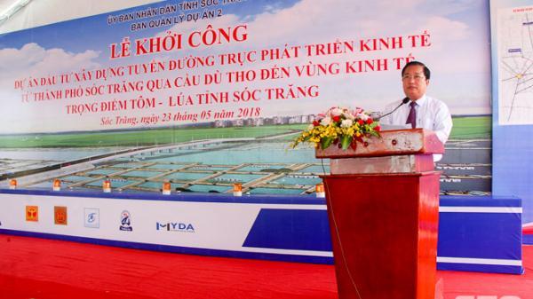 Khởi công Dự án tuyến đường trục phát triển kinh tế tỉnh Sóc Trăng