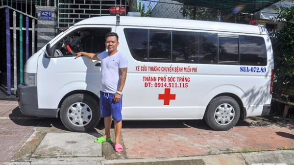 Sóc Trăng: Chủ tiệm cơ khí mua xe cấp cứu chuyển bệnh miễn phí