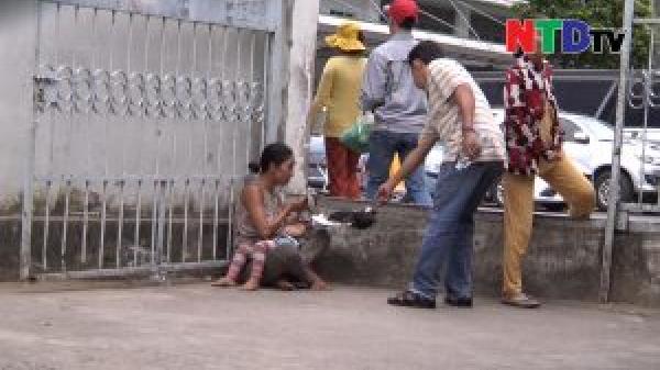 Cho trẻ uống thuốc an thần, tiêm ma túy để xin tiền trước cổng bệnh viện