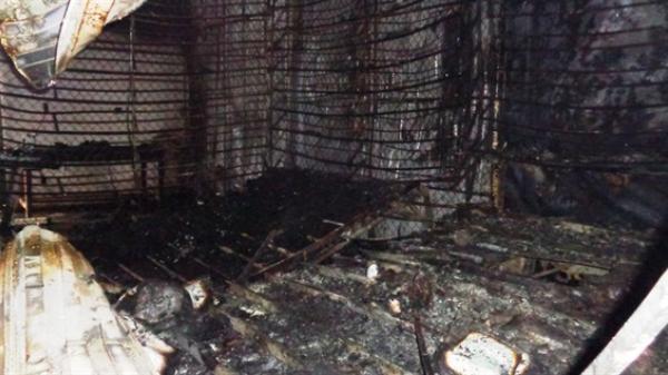 Cháy chợ ngày cuối năm, 6 ki ốt hàng hóa bị thiêu rụi