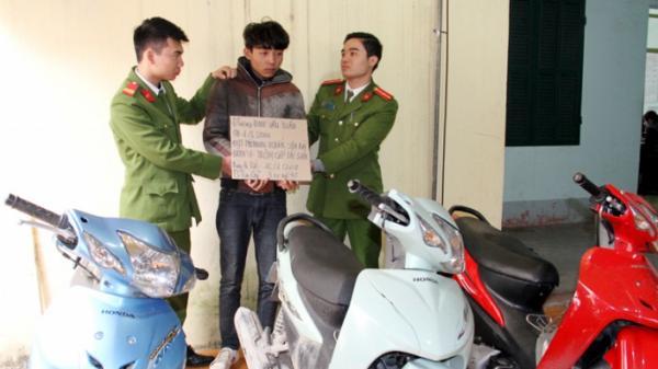 Bắt giữ nam thanh niên trộm cắp xe máy chuyên nghiệp tại Lào Cai