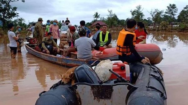 Vụ vỡ đập thủy điện tại Lào: Tìm thấy 5 thi thể, 1 người Việt mất tích