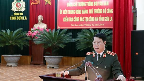 Thứ trưởng Bùi Văn Nam kiểm tra công tác tại Công an tỉnh Sơn La