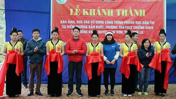 """Sơn La: Khánh thành """"Phòng học Dân trí"""" tại điểm trường bản Buốt"""
