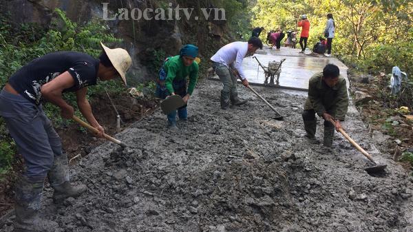Nông dân Lào Cai đóng góp gần 8 tỷ đồng xây dựng nông thôn mới