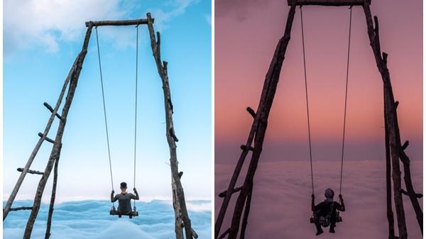 Trải nghiệm đu xích đu giữa biển mây ở độ cao 2100m có 1-0-2 ở Lai Châu