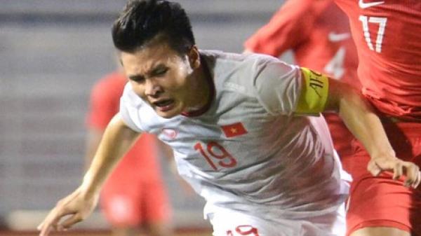 Chính thức: Quang Hải bị rách cơ, lỡ trận gặp U22 Thái Lan và có nguy cơ cao nghỉ hết SEA Games 30