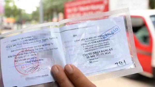 Được sử dụng bản sao giấy đăng ký xe theo Nghị định 100