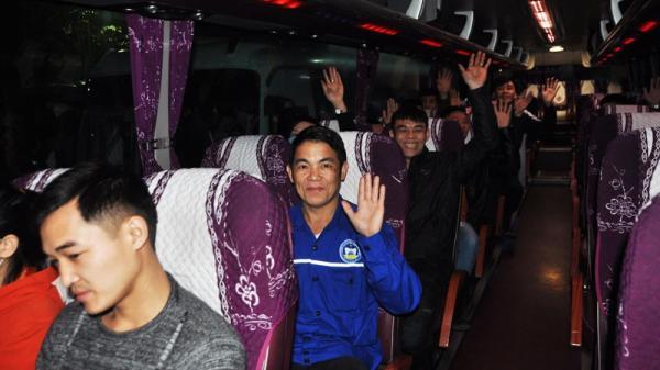 Hơn 7.200 thợ mỏ được đi xe miễn phí về Hà Tĩnh và các tỉnh ăn Tết