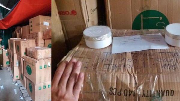 Hoảng hồn với lô hàng mỹ phẩm, thực phẩm hàng nghìn hộp vừa bị bắt giữ