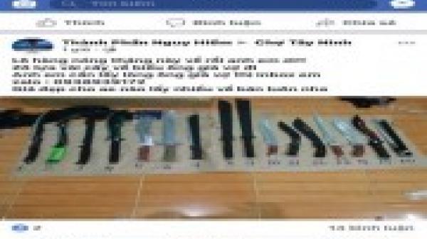 Tây Ninh: Rao bán vũ khí trái phép trên mạng xã hội