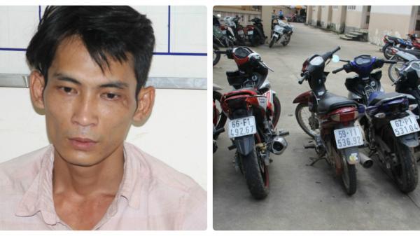 Tây Ninh: Bắt 7 đối tượng chuyên trộm xe máy