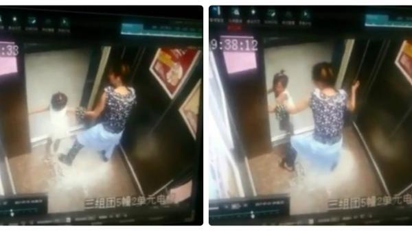 """Cảnh tượng đau lòng: Mẹ mải mê bấm điện thoại để con gái bị thang máy """"nuốt chửng"""" cánh tay"""