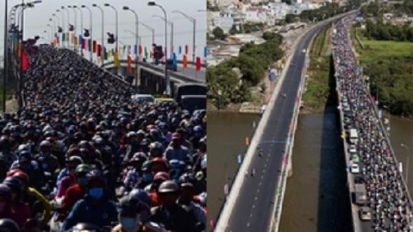 Miền Tây: Vừa qua được cầu Mỹ Thuận, dân tình bị kẹt xe tại Long An còn khủng khiếp hơn