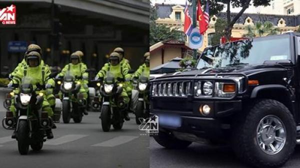 """Cận cảnh dàn xe """"khủng"""" bảo vệ Hội nghị thượng đỉnh Mỹ - Triều xuất hiện tại Hà Nội"""